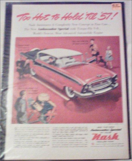 1957 American Motors Nash Ambassador Special 2 dr ht car ad