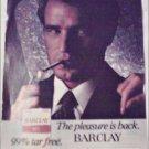 1980 Barclay Cigarette ad
