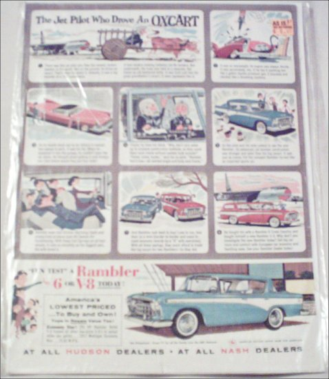 1957 American Motors Rambler Custom 4 dr ht car ad