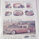 1958 American Motors Rambler Rebel 4 dr sedan car ad