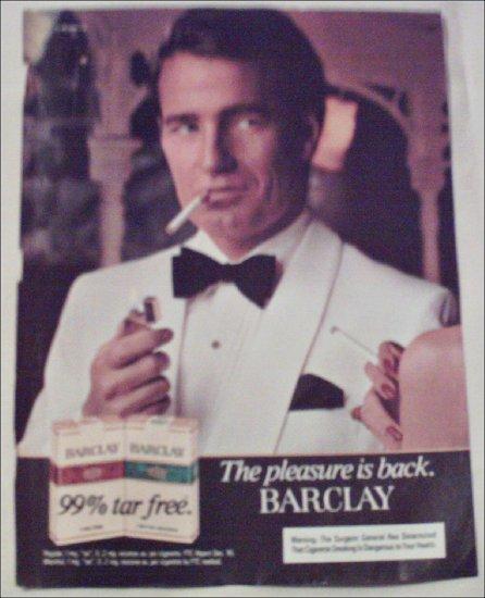1982 Barclay Cigarette ad