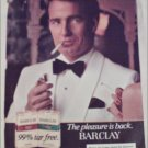 1982 Barclay Cigarette ad