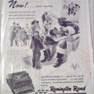 1945 Remington Rand Deluxe Model 5 Typewriter Christmas ad