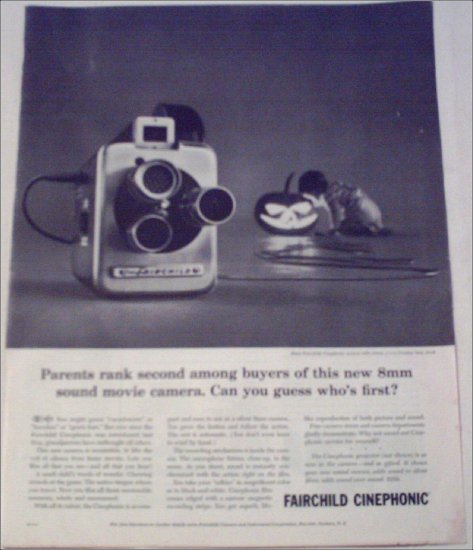 1960 Fairchild Cinephonic Movie Camera ad #2