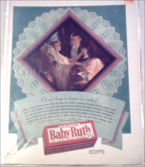1929 Curtiss Baby Ruth Candy Bar Dreams ad