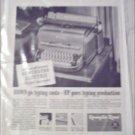 1948 Remington Rand Electric De Luxe Typewriter ad