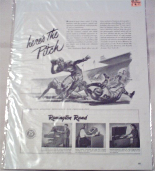 1948 Remington Rand Business Machines ad