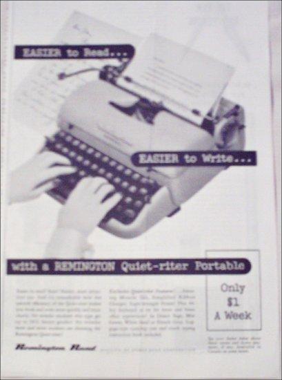 1956 Remington Rand Quiet-Riter Typewriter ad