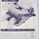 1956 Remington Rand Quiet-Riter Typewriter ad