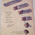 1960 Curtiss Butterfinger Candy Bar ad