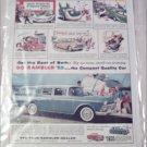 1959 American Motors Rambler CC 4 dr stationwagon  car ad blue