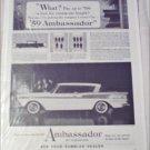 1959 American Motors Ambassador 4 dr ht car ad
