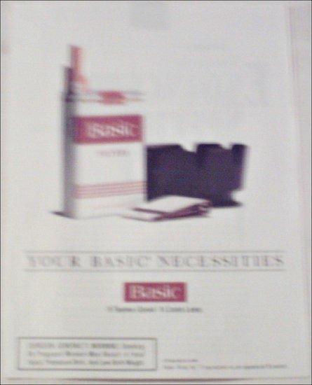 1994 Basic Cigarettes Necessities ad