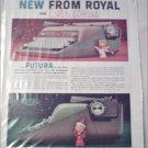 1958 Royal Futura Typewriter Christmas ad