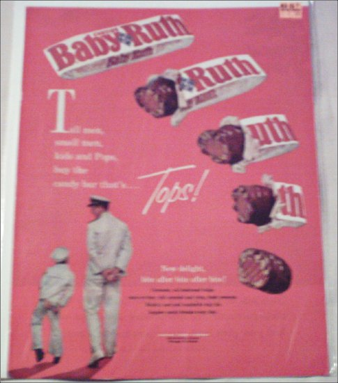1961 Curtiss Baby Ruth Candy Bar ad