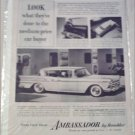 1959 American Motors Ambassador 4 dr ht car ad Toll