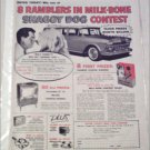 1959 American Motors Rambler 4 dr stationwagon Shaggy Dog Contest ad