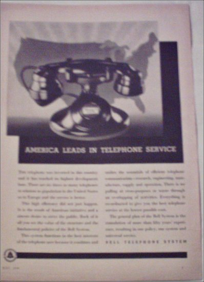 1934 Bell Telephone ad