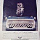 Royal Safari Typewriter Graduation ad