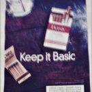 1998 Basic Cigarettes Matchbook ad