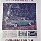 1960 American Motors Ambassador V-8 4 dr sedan car ad blue