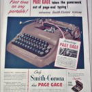 1952 Smith-Corona Portable Typewriter with Page Gage ad