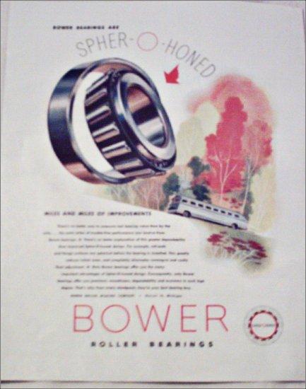 Bower Roller Bearings Company Improvements ad