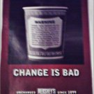 1998 Hershey's Candy Bar Coffee Cup ad