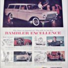 1961 American Motors Rambler American Custom 4 dr stationwagon car ad