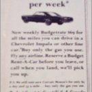1965 Budget Rent A Car ad