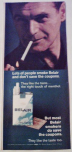 1966 Belair Cigarettes Coupon ad #3