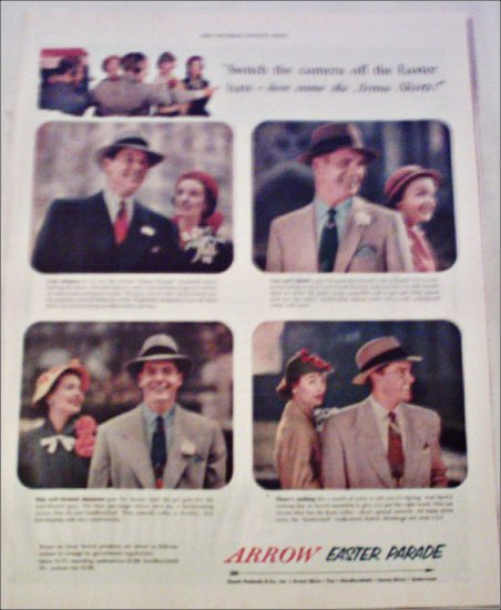 1952 Arrow Shirts Easter ad
