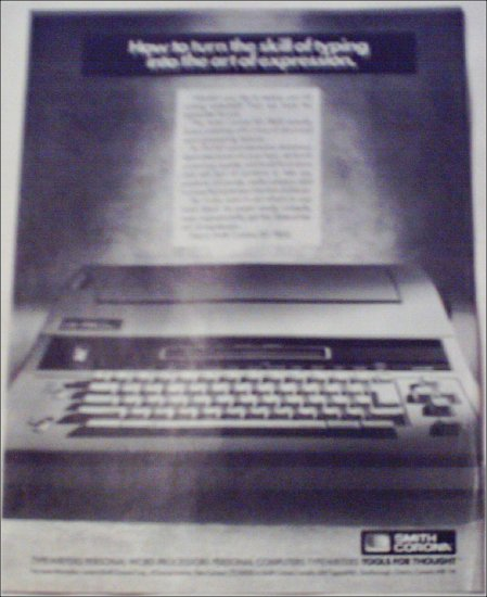 1992 Smith-Corona XD 7800 Word Processor ad
