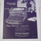 1947 Underwood Typewriter ad