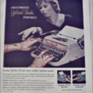 1958 Underwood Golden Touch Portable Typewriter ad