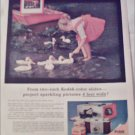 1957 Kodak Color Slides Ducks ad