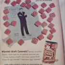 1959 Kraft Caramels ad featuring Dick Tracy