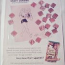 1959 Kraft Caramels ad featuring Daisey from Lil Abner