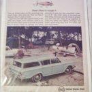 1962 US Steel ad featuring American Motors Rambler 4 dr stationwagon