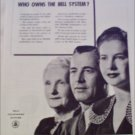 1946 Bell Telephone Who Owns ad