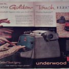 1959 Underwood Golden Touch Electric Typewriter ad