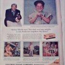1959 Kodak Kodacolor Film ad featuring Mickey Mantle