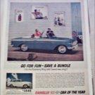 1963 American Motors Rambler American 440 convertible car ad