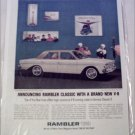 1963 American Motors Rambler Classic V8 770 4 dr sedan car ad yellow