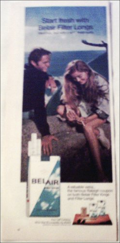 1971 Belair Filter Longs Cigarettes ad #2
