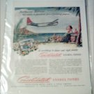 Consolidated Enamel Papers Northwest Airlines ad