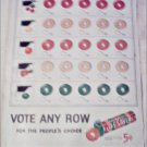 1952 Five Flavor Lifesavers Vote ad