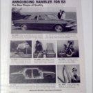 1963 American Motors Rambler Classic Six 4 dr sedan car ad