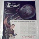 1946 Dietzgen Company E=MC ad