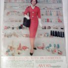 Avon Cosmetics Red Dress ad